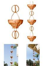 Monarch Pure Copper Eastern Hammered Cup Rain Chain, 8-1/2 Feet Length