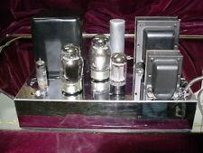 Rare MusiCraft M-60 M60 Mono 6550/KT88 Tube Amplifier 60 Watts Chrome/Black