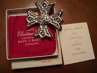1975 Reed & Barton Sterling Silver Christmas Cross-5th Edition