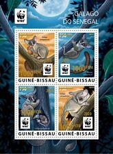 More details for guinea-bissau wwf stamps 2020 mnh senegal galago bushbabies gold ovpt 4v m/s