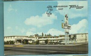 Albuquerque, NM/ Albuquerque East TraveLodge/bear/sign/ exterior/chrome postcard