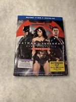 Batman v Superman: Dawn of Justice (Blu-ray Disc, 2016, 2-Disc Set) w/Slipcover