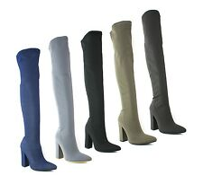 Textile Casual Over Knee Boots for Women