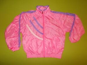 VINTAGE Jacket FILA (Women M) PERFECT !!! Track Jacket PINK 100% Nylon