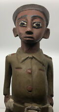 African Statue Colonial Military Man Soldier West Wood Figure Carved Carving