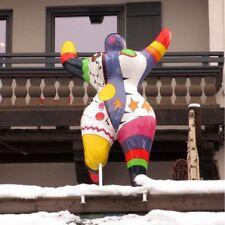 Nana Type 220 cm Hommage à Niki de Sant Phalle art peinture jardin deco personnage