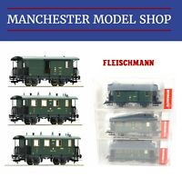 Fleischmann HO 1:87 3-piece set Reisezugwagen Passenger train SBB Era II NEW