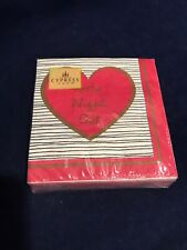 CYPRESS HOME Set of 40 Cocktail Beverage Heart Napkins - Girls Night Out 5 X 5