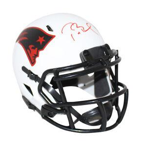 Tom Brady Autographed New England Patriots Lunar Mini Helmet FAN 31512