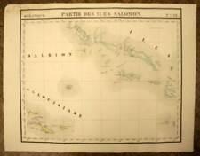 LES ILES SALOMON SOLOMON ISLANDS carte geographique de VANDERMAELEN 1827