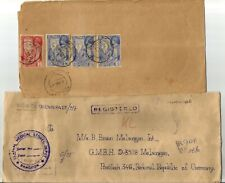 Burma Myanmar 5 covers 1947-83 including King GVI, registered covers to Germany,