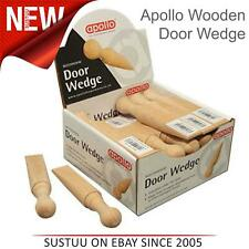 Apollo Traditional Beech Wooden Door Stay Stop Stopper Wedge│1 To 24 Wedges Pack