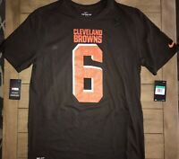 NIKE CLEVELAND BROWNS BAKER MAYFIELD 6 AUTHENTIC JERSEY TEE SHIRT NWT SIZE XL
