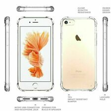 CLEAR Case For Apple Phone SE 2020 Bumper Shockproof Silicone Protective Cover