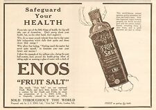 1919 ANTIQUE PRINT- ADVERT-ENO'S-SAFEGUARD YOUR HEALTH