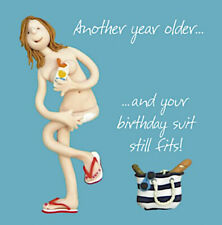 Birthday Suit Nude Funny Mum Daughter Aunt Sister Friend Birthday Card