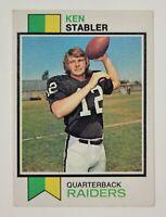 1973 Topps Ken Stabler Oakland Raiders #487 Football HOF