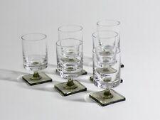 "{A329} Rosenthal ""Berlin"" 6x Glas / Gläser Rauchglas ""Georg Jensen"" 60`s ❖"