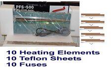"20"" PFS-500 Hand Impulse Sealing Machine+10 Heating Elemlents + 10 Teflon Sheets"