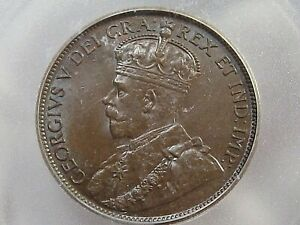 UNC 1914 Large Cent CANADA ICG MS60 BN.  #3