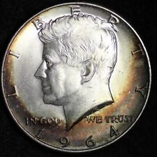 1964-D Kennedy Half Dollar CHOICE BU TONED FREE SHIPPING E267 RCT