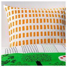 IKEA onskedrom enfant unique avec Housse de couette & taie d'oreiller-Orange, Vert & Blanc