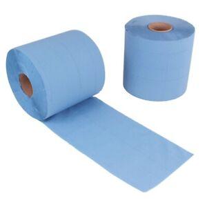 2x Rollen 2 lagig 21 cm breit Putztuch Papier-Rolle blau Putzpapier 1000 Blatt