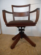 Selten USA Antik Büro Art Deco 20er Chair Schreibtischstuhl Drehstuhl Desk Chair