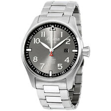 Alpina Sartimer Pilot Grey Dial Stainless Steel Men's Watch AL525GB4S6