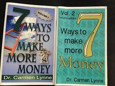 2 Christian Books 7 Ways To Make More Money Vol 1 & 2 Dr Carmen Lynne S/C Good