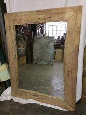 Specchio Specchiera In Legno Shabby Industriale design nature modernariato
