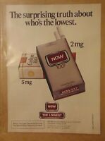 Vintage 1980's NOW Brand Cigarette Smoking Original  Print Ad Advertising