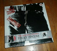 "ROLLING STONES Orig 2009 ""Sticky Fingers"" LP boxset RED wax SEALED w T-SHIRT NM"