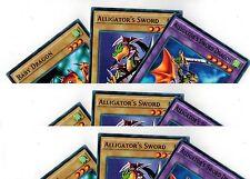 9-Cards: 3 Sets of Alligator's Sword Dragon Fusion_Baby Dragon 1st YUGIOH LDK2