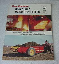NEW HOLLAND 510 511 516 517 HEAVY DUTY MANURE SPREADERS 1965 BROCHURE