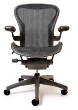 Aeron Chair by Herman Miller - Basic - Graphite Frame - Carbon Classic Size C