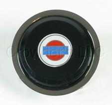 Nardi Steering Wheel Horn Button Black with Chrome Trim w/ Nissan (Datsun) Logo