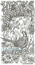 Pheasant In The Woods Bird Wood Mounted Rubber Stamp Northwoods Stamp O6737 New