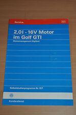 Selbststudienprogramm SSP 157 VW 2,0l - 16V Motor im Golf GTI Motormanagement