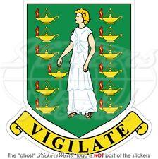 Britische JUNGFERNINSELN Wappen UK Vinyl Sticker Aufkleber 100mm
