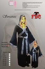 STREGA MALVAGIA sirena di DARK stregoneria Halloween Donna Costume UK 6-8