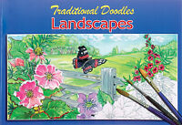 LANDSCAPE & ANIMALS COLOURING PAINTING SKETCH BOOK OLDER CHILDREN & ADULTS 3070