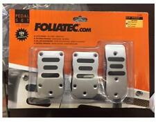 Foliatec brushed aluminium alloy sports car pedals manual TUV approved