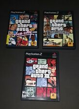Lot of 3 Grand Theft Auto PlayStation 2 Games: San Andreas, Vice Cit, GTA 3