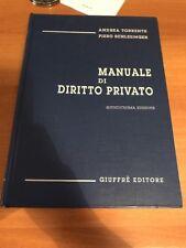 Manuale Di Diritto Privato Andrea Torrente Piero Schlesinger - Nuovo