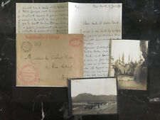 1912 France Cover Army Occupation of Haut Gur Stampless to Auxerre w Fotos Lettr