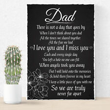 Love Miss You Dad Memorial Grave Plaque Father's Day Daddy Gift Bereavement Sign