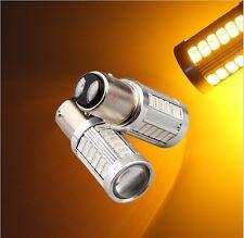 2x 1157 5730 33SMD LED Amber Car Auto Brake Turning Parking Reverse Lamp Bulb
