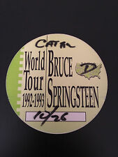 BRUCE SPRINGSTEEN WORLD TOUR BACKSTAGE PASS-1992-1993-CATERING
