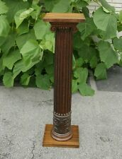 Beautifully Carved Victorian Oak Pedestal